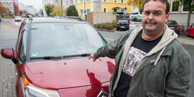 Sex auf fremdem Auto: 2.700 Euro für Bläser