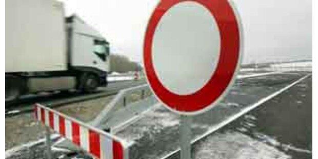 Autobahnabfahrt Korneuburg West 7 Monate gesperrt