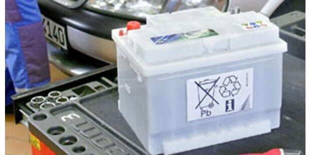 3 Tonnen Autobatterien entsorgt