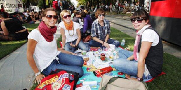 Picknickstimmung am Wiener Burgring