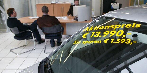 Preissturz bei Gebrauchtwagen