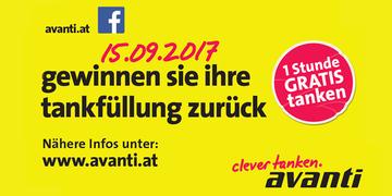 15. September 2017: Gratis Tankfüllung gewinnen bei der Avanti Station in Herzogenburg