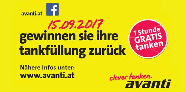 Gratis Tankfüllung gewinnen bei der Avanti Station in Herzogenburg