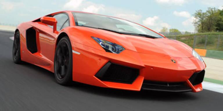 Ausfahrt mit dem Lamborghini Aventador
