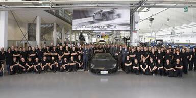 2.000ster Aventador verlässt Werkshallen