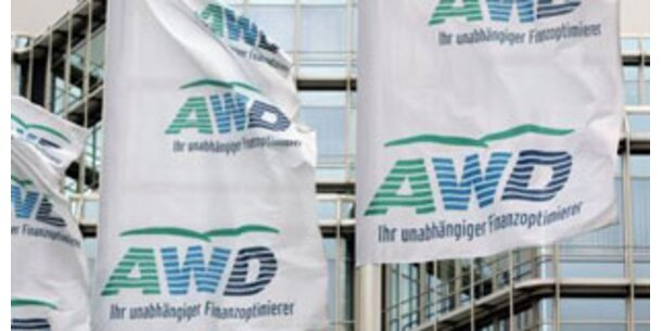 Geschäft beim Finanzdienstleister AWD eingebrochen