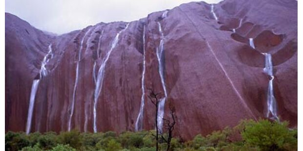 Wasserfälle am Ayers Rock in Australien