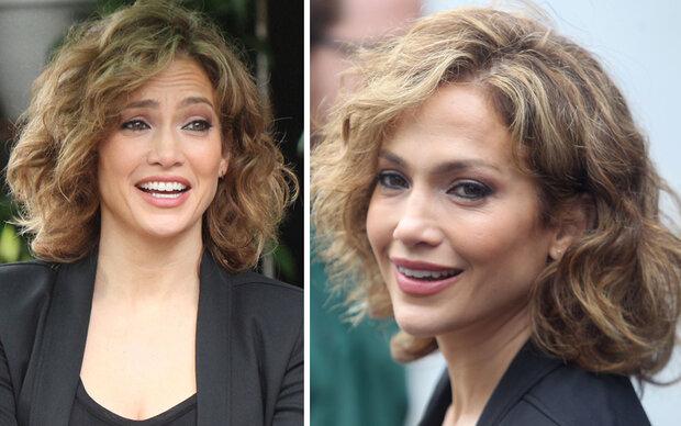 Jennifer Lopez mit Dauerwellen-Frisur