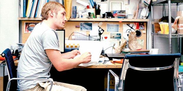 In Männer-Büros wimmelt es vor Keimen