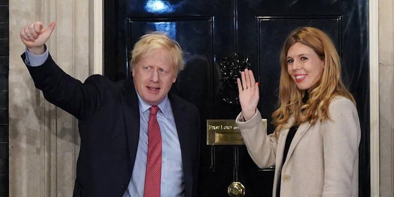 Nach Corona-Schock: Briten-Premier Johnson im Baby-Glück