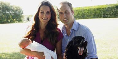 Herzogin Kate, William, George