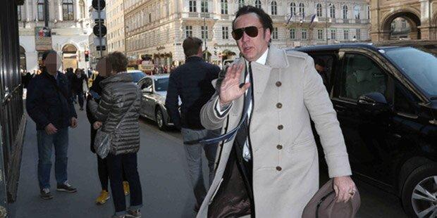 Nicolas Cage am Tag des Opernballs in Wien
