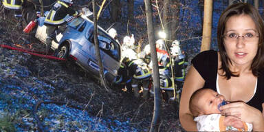 Schwangere vor Feuertod gerettet