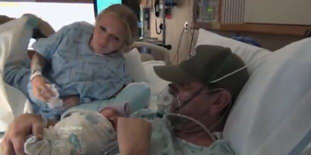 Vater stirbt mit Neugeborener im Arm