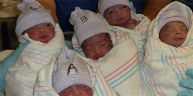 30-Jährige brachte Fünflinge zur Welt
