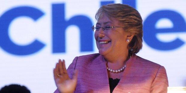 Bachelet gewinnt in Chile: Stichwahl nötig