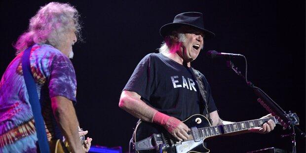 Neil Young begeisterte Wien