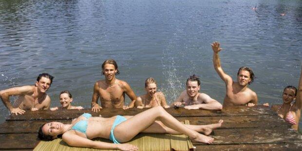 Die Temperaturen der Badeseen