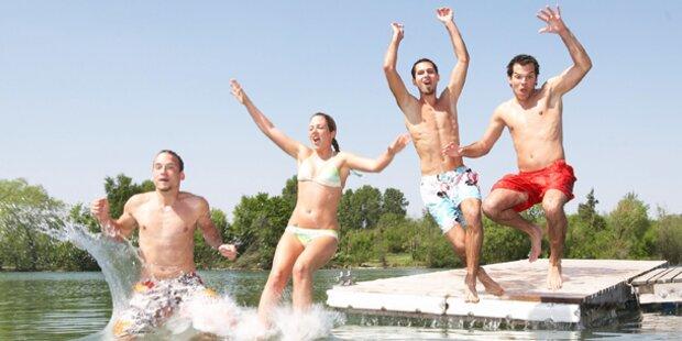 Das sind die 15 wärmsten Badeseen