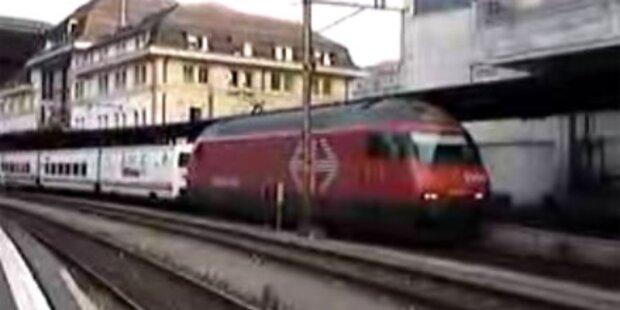Französischer Zug hat sich verfahren