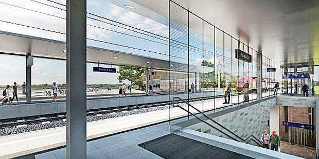 Parndorf hat Top-Bahnhof ohne Klos