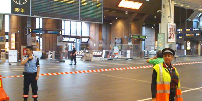 Terror-Alarm: Bahnhof von Oslo evakuiert