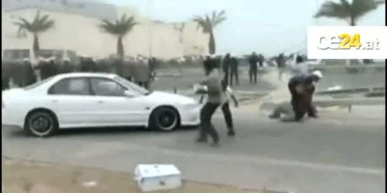 Demonstrant ins Gesicht geschossen