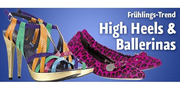 Bequeme Ballerinas oder sexy High Heels?