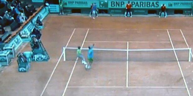 Voreiliger Balljunge unterbricht French Open