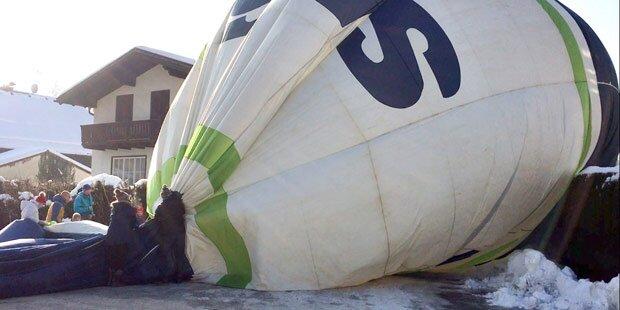 Ballon musste mitten in Salzburg notlanden