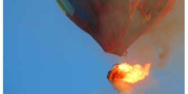 Zwei Frauen verbrannten im Heißluftballon