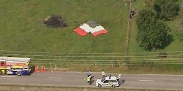 Elf Tote bei Absturz von Heißluftballon
