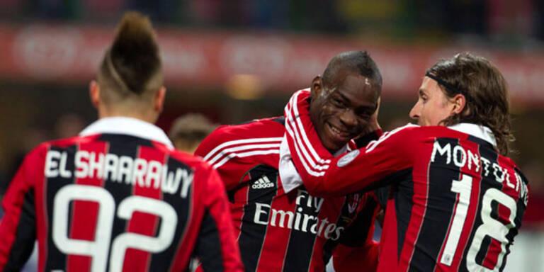 Der AC Milan feiert Superstar Balotelli