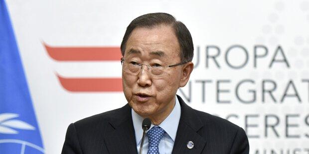 Ban Ki-moon spricht im Hohen Haus