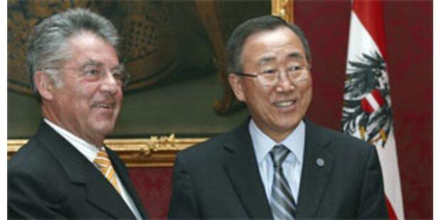 Treffen zwischen Ban und Fischer in der Hofburg