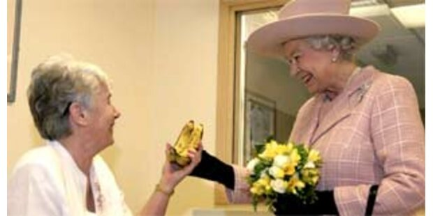 Zwei Bananen für die Queen