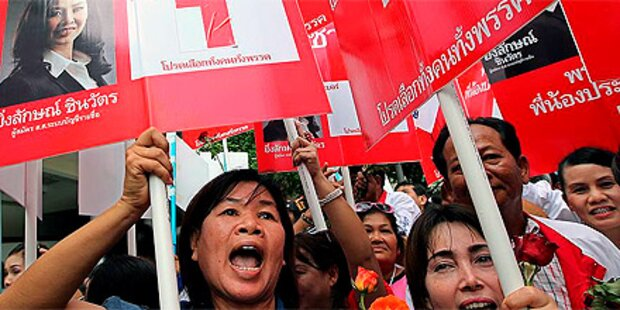Regierungsgegner demonstrieren in Bangkok