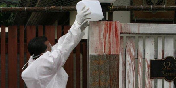 Blut vor Premier-Residenz verschüttet