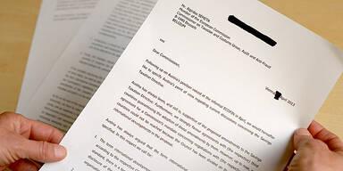 Streit um Bankgeheimnis: Das ist der Brief