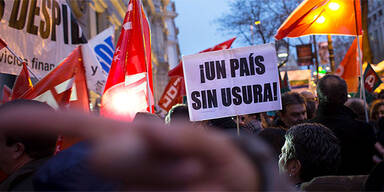 Bankia-Protest Spanien