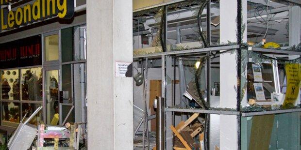 Bankomat in Leonding (OÖ) gesprengt