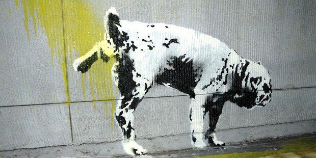 Sie kaufte geschredderten Banksy