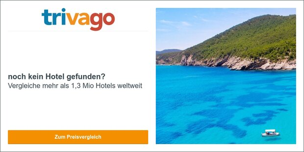 Anzeige Trivago