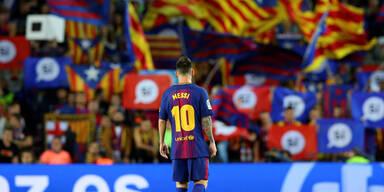Gewalt in Katalonien: Chaos vor Barca-Spiel