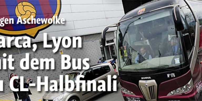 Barca, Lyon mit dem Bus zu CL-Halbfinali