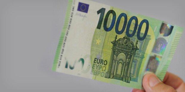 Neuer 10.000-Euro-Schein soll Sparer retten