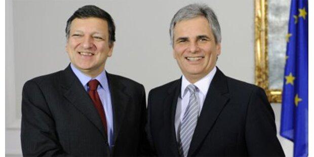 Barroso zu Besuch bei Faymann