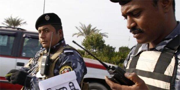 Blutiger Anschlag auf irakische Polizei