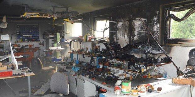 Explosion in Bastelgarage: Modellbauer verletzt