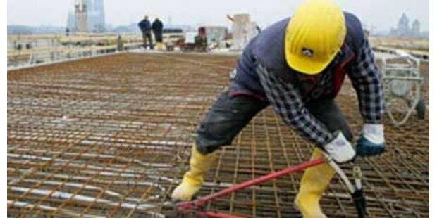 Bauwirtschaft weiter auf Talfahrt